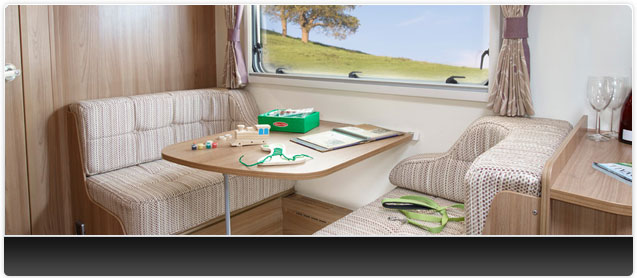 Bailey Unicorn III Madrid Caravan Interior